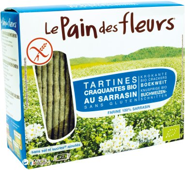 Хлебцы Le Pain des Fleurs из гречки без соли и сахара 150 г (3380380046940)