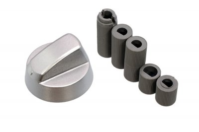 Ручка для духовки и плиты, универсальная (серебро) d=42 (5 валов)