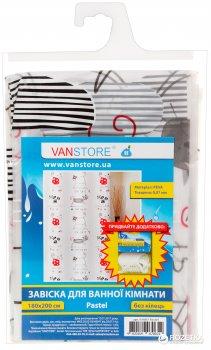 Фіранка для ванної Vanstore Pastel 61007 180х200