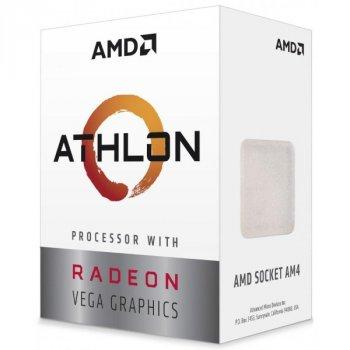 Процесор CPU AMD Zen Raven Ridge Athlon 220GE 2Core/4Threads (3,4 GHz,4MB,35W) (YD220GC6FBBOX) AM4 BOX