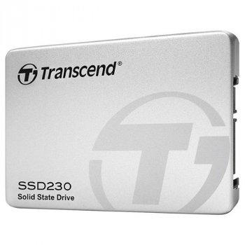 """Твердотільний диск SSD 2.5"""" 256GB Transcend 230S 3D-V-NAND TLC , Aluminum case, SATA 6Gb\s, Sequential Read/Write 560/520 MB/sec 7mm (TS256GSSD230S)"""