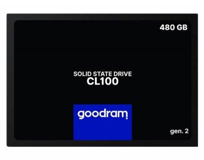 """Твердотільний диск SSD 2.5"""" 480GB Goodram CL100 SATA 3, TLC, Read - 550Mb/s Write 450Mb/s (SSDPR-CL100-480-G2)"""