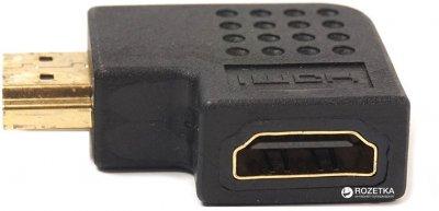 Перехідник PowerPlant HDMI AF - HDMI AM правий кут (KD00AS1302)