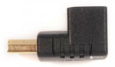 Перехідник PowerPlant HDMI AF - HDMI AM нижній кут (KD00AS1303)