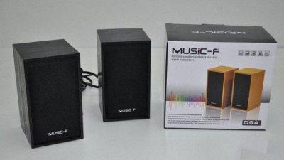 Колонки для ПК комп'ютера Music-F D-9A Black стерео