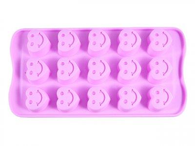 Форма для льоду Fissman силіконова 15 осередків 21х10.5х1.7см Рожева (6551)