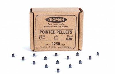Пули для пневматического оружия Люман 0,68г (остроголовые), 1250 шт