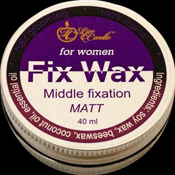 Моделюючий віск Live Candle для волосся, жіночий, матовий (UA-ВЖМ)