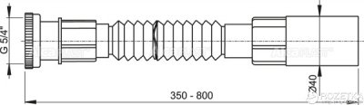 """Гибкое соединение ALCA PLAST A74 5/4"""" x 40 мм с металлической гайкой (8594045933642)"""