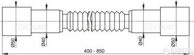 Гибкое соединение ALCA PLAST A72 50/50 мм (8594045933673)