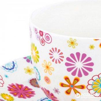 Чашка с блюдцем для кофе Krauff Blumen 100 мл (21-244-015)
