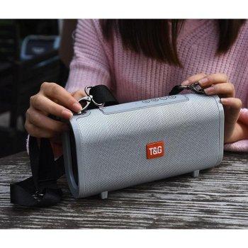 Портативна bluetooth колонка вологостійка TG-123 FM, MP3, радіо Сіра