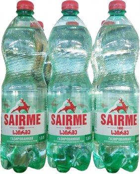 Упаковка минеральной газированной воды Sairme 1 л х 6 бутылок (4860001590162)