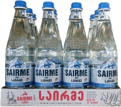 Упаковка родниковой негазированной воды Sairme 0.5 л х 12 бутылок (4860001590131)