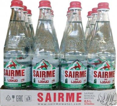 Упаковка минеральной газированной воды Sairme 0.5 л х 12 бутылок (4860001590124)