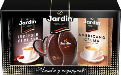 Набор кофе молотый Jardin Espresso di Milano 250 г + Americano Crema 250 г + Чашка в форме зерна в подарок (4823096807492)