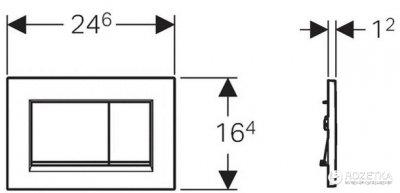 Панель смыва GEBERIT Sigma 30 хром матовый/хром глянцевый/хром матовый 115.883.KN.1