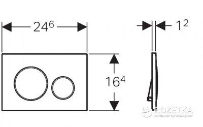 Панель смыва GEBERIT Sigma 20 белый/позолота/белый 115.882.KК.1