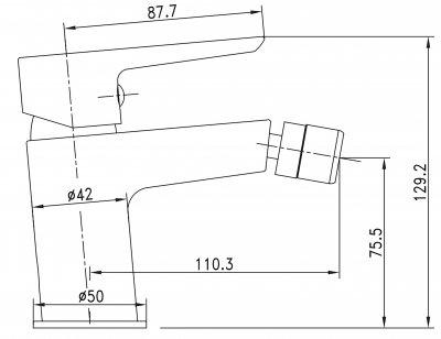 Смеситель для биде IMPRESE BRECLAV 40245W хром/белый, 35 мм