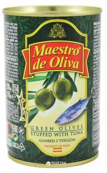 Оливки зеленые с тунцом Maestro de Oliva 300 г (8436024290059)