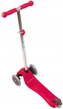 Самокат Globber Primo Lights 3 колеса с подсветкой до 50 кг 3+ Красный (423-102-3)