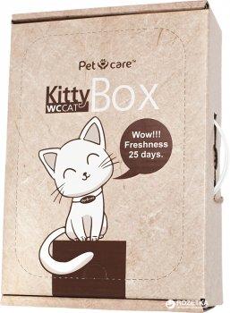 Наполнитель для кошачьего туалета KittyBox 2 в 1 Минеральный комкующийся с лотком на 25 дней без замены (4820204290016)