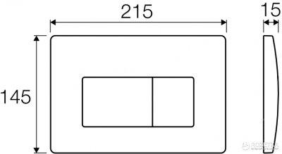 Панель смыва VALSIR P1 Tropea 3 хром глянцевый VS0871335