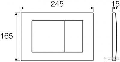 Панель смыва VALSIR P6 Tropea 3 хром глянцевый VS0870235