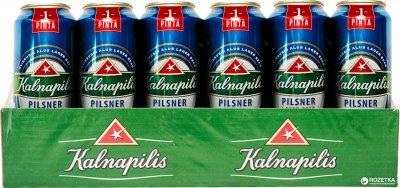 Упаковка пива Kalnapilis Pilsner светлое фильтрованное 4.6% 0.568 л x 24 шт (4770477226987)
