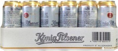Упаковка пива Konig Pilsener светлое фильтрованное 4.9% 0.5 л x 24 шт (4100770305551)