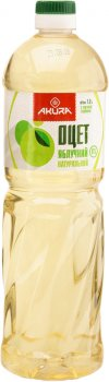 Уксус Akura спиртовой яблочный 6% 1 л (4820178461177)