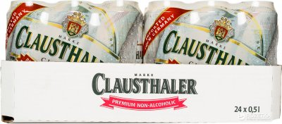 Упаковка пива Clausthaler светлое фильтрованное безалкогольное 0% 0.5 л х 24 шт (4053400001579)