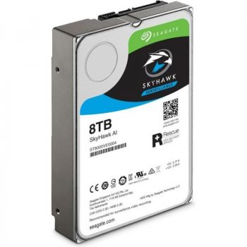 Накопичувач HDD SATA 8.0 TB Seagate SkyHawk AI Surveillance 7200rpm 256MB (ST8000VE000)