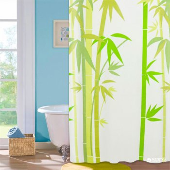 Шторка для ванної Мій Дім Green Bamboo 180х180 см NJ10109