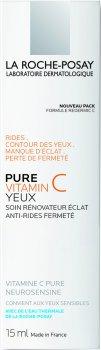 Антивозрастной увлажняющий крем-филлер комплексного действия для чувствительной кожи вокруг глаз La Roche-Posay Pure Vitamin C Eyes 15 мл ( 3337872413735)