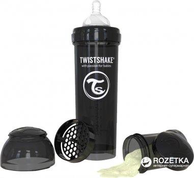 Антиколиковая бутылочка Twistshake 330 мл Черная (7350083120441)