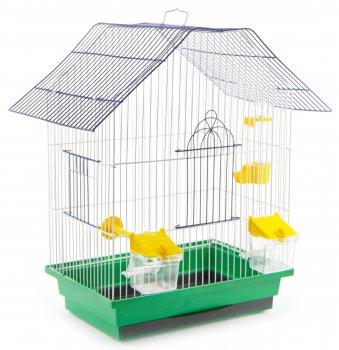 Клетка для птиц Лорі Шанхай 40 х 33 х 23 см Зеленая (4823094302517)