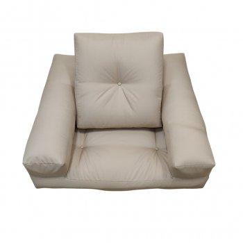 Крісло трансформер безкаркасне Lavibo Куб оксфорд L Бежевий 180х100х25 см