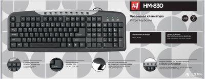Клавиатура проводная Defender HM-830 USB (45830)