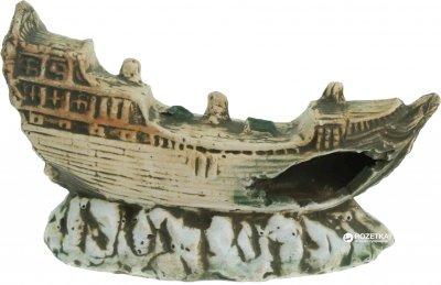 Грот керамический Aqua Nova Затонувший корабль 19 x 11 x 6 см (N-30011)