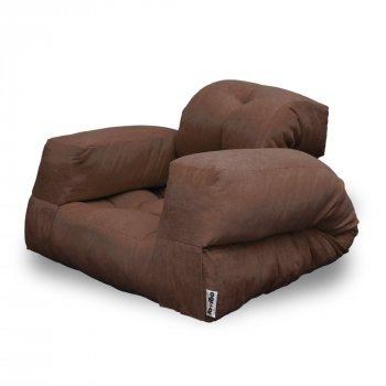 Крісло трансформер безкаркасне Lavibo Ультра велюр S Коричневий 200х90х15 см