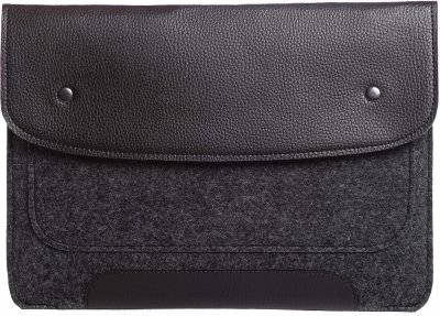 Чехол для ноутбука Gmakin для MacBook Air/Pro 13.3'' Black/Grey (GM01)
