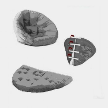 Крісло трансформер безкаркасне Lavibo Обіймашка рогожка S Сірий