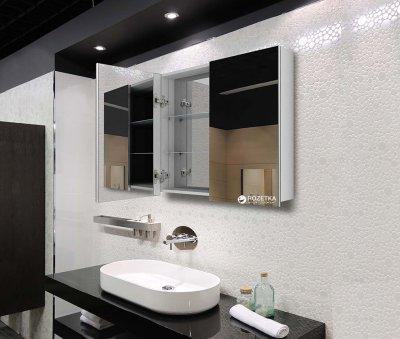 Зеркальный шкаф J-MIRROR Atlant 2 дверцы без подсветки 60x120