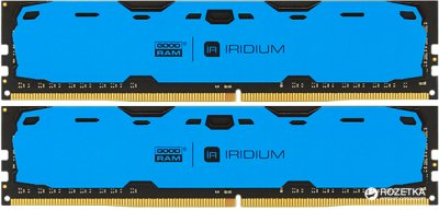 Оперативна пам'ять Goodram DDR4-2400 8192MB PC4-19200 (Kit of 2x4096) IRDM Blue (IR-B2400D464L15S/8GDC)