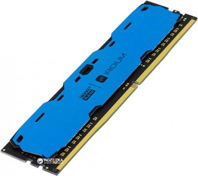 Оперативна пам'ять Goodram DDR4-2400 8192MB PC4-19200 IRDM Blue (IR-B2400D464L15S/8G)
