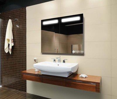 Зеркальный шкаф J-MIRROR Benedetto 2 дверцы c LED-подсветкой 80х120