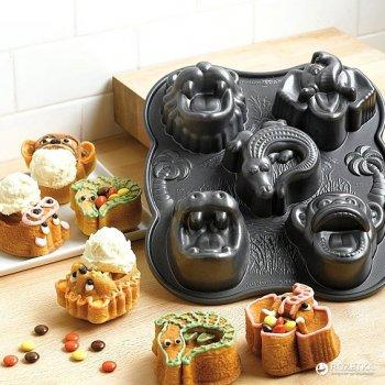 Форма для выпечки Nordic ware Hungry animals 27.5х25х5 см для кексов (85224)