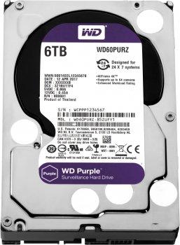 Жорсткий диск Western Digital Purple 6TB 64MB 5400rpm WD60PURZ 3.5 SATA III