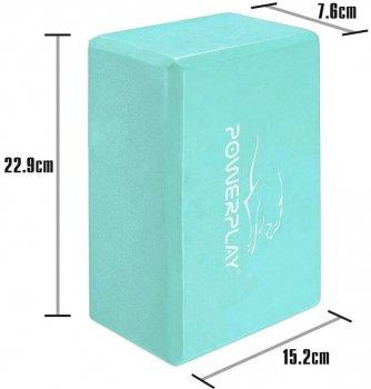 Блок для йоги PowerPlay 4006 Yoga Brick М'ятний (PP_4006_Mint_Yoga_Brick)